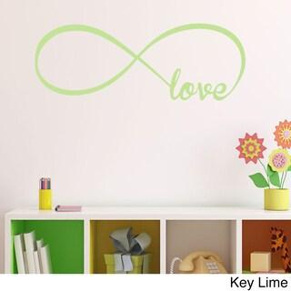 Vinyl Love Infinity Symbol Wall Decal (Option: Silver)