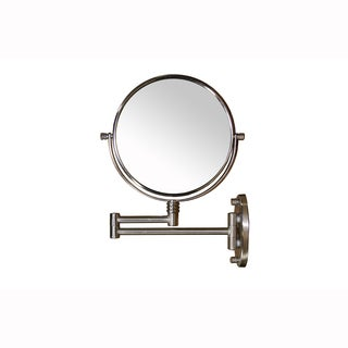 Extendable Round 13.5-inch Mirror with Magnification