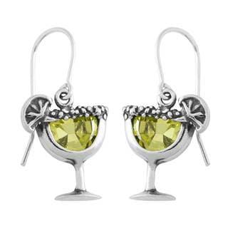 Sterling Silver Cubic Zirconia Margarita Earrings