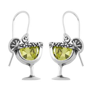 Sterling Silver Cubic Zirconia Margarita Earrings