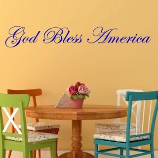'God Bless America' Vinyl Wall Decal