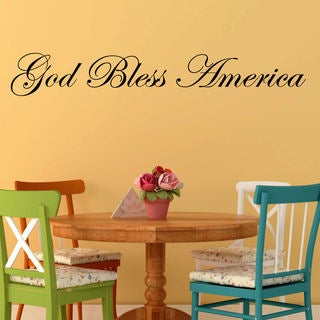'God Bless America' Vinyl Wall Decal