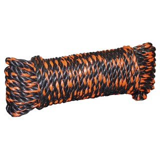 "Lehigh Group J3932H0050H10 1/2"" X 50' Black & Orange Truck Rope"