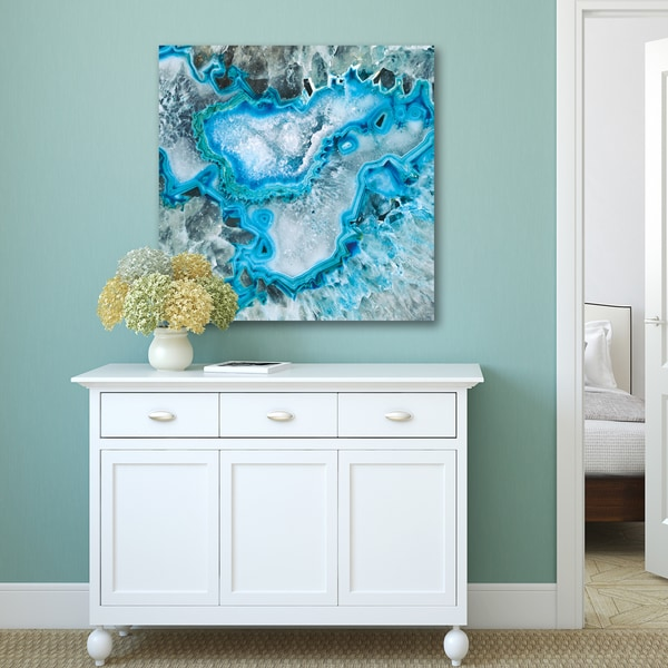 Portfolio Canvas Decor Gl Artlab X27 Ice Crystal Geode Print