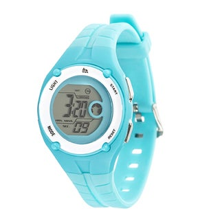 RBX Active Sport Digital Turquoise Rubber Strap Watch - Blue
