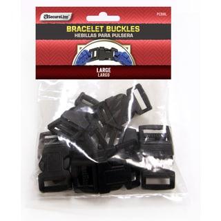 Lehigh Group PCBBL Large Black Paracord Bracelet Buckle 8-count