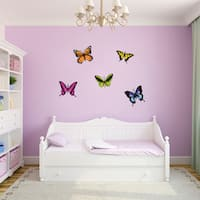 Sweetums Printed Butterflies Wall Decal Pack
