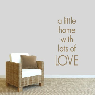 Sweetums 'A Little Home With Lots of Love' Wall Decal