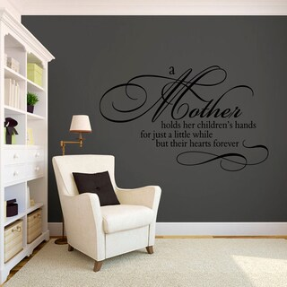 A Mother Holds a Child's Hand' 48 x 30-inch Wall Decal (More options available)