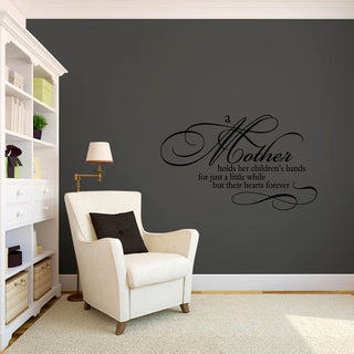 A Mother Holds a Child's Hand' Vinyl Wall Decal