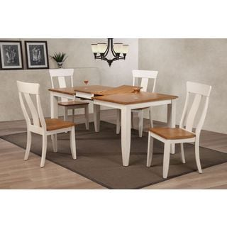 Iconic Furniture 5-piece Caramel Biscotti 36 x 52 x 67-inch Rectangle Panal Back Dining Set