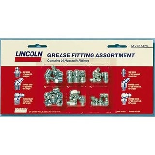 """Lincoln 5470 1/8"""" Grease Gun Fittings Assortment 24 Piece"""