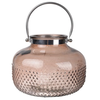 Glass/Metal 9-inch x 12.5-inch Diameter Lantern