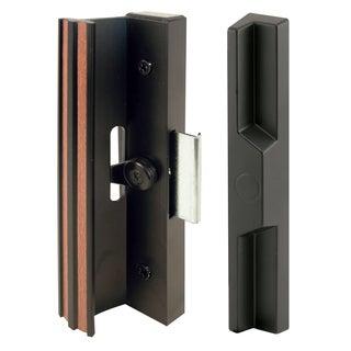 Prime Line C1106 Black Aluminum & Diecast Sliding Door Handle Set