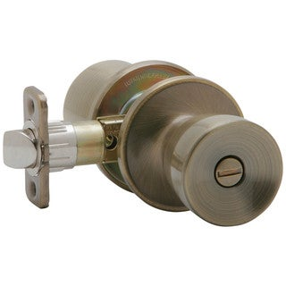 Dexter by Schlage J40VBYR609 Antique Brass Byron Bed & Bath Privacy Knobs