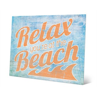 Relax At The Beach' Orange and Blue Wall Art on Aluminum