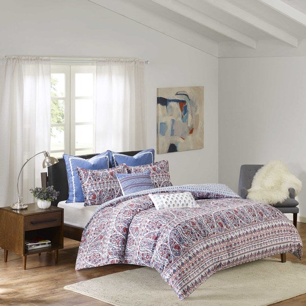 Shop Echo Design Woodstock Cotton Sateen Printed Duvet Set Free