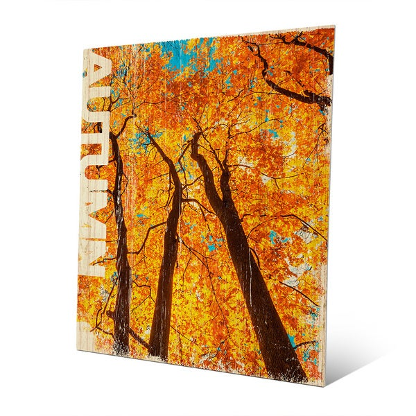 Shop \'Autumn\' Wall Art on Metal - On Sale - Free Shipping Today ...