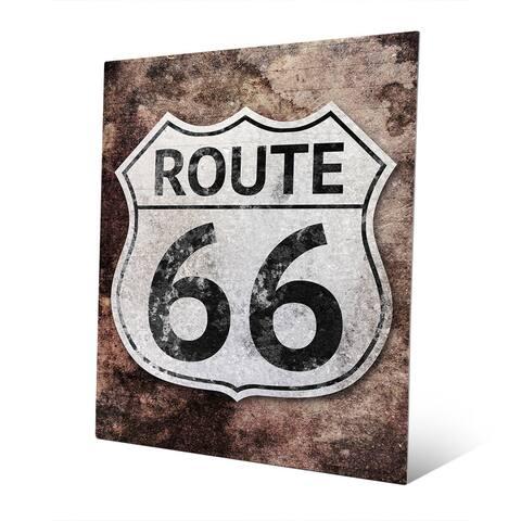 Rustic Route 66' Metal Wall Art