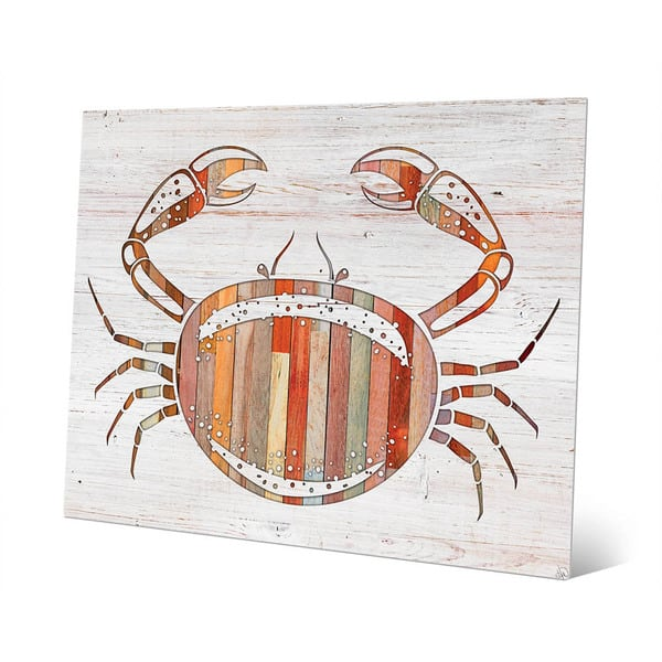 Crab Wall Art On Metal Overstock 12611070