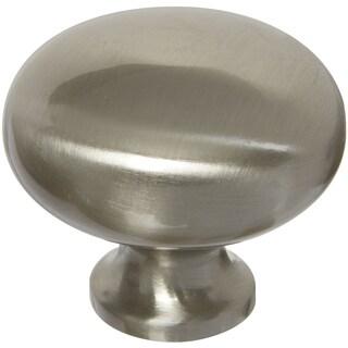 """Home Designs S804898 1.26"""" Satin Nickel Round Knob"""