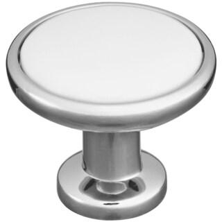 "Home Designs S813154 1-1/4"" Polished Chrome Porcelain Insert Knob"