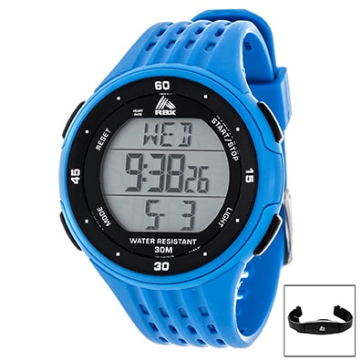 Shop Rbx Digital Blue Heart Rate Monitor And Chest Belt Free Shipping On Orders Over 45