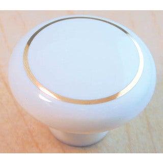 "Ultra Hardware 41425 1-1/4"" White Traditions Ceramic Knob"