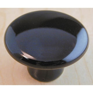 "Ultra Hardware 41427 1-1/2"" Black Traditions Ceramic Mushroom Knob"