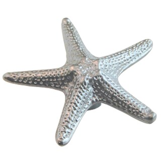 "Ultra Hardware 41666 2-3/4"" Starfish Satin Chrome Designer's Edge Cabinet Knob"