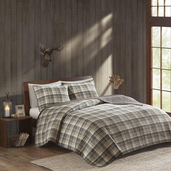 Woolrich Tasha Tan Cotton Percale Printed Quilt Set
