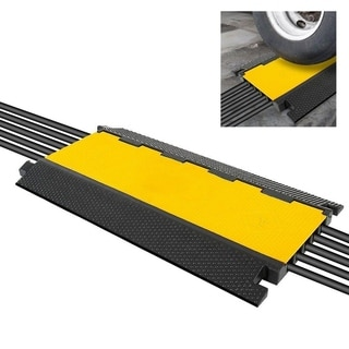 Pyle PCBLCO28 Multi-Channel Cable Protective Cover Ramp, Cord/Wire Concealment Protection Track