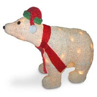 18.5-inch Polar Bear with Clear Lights