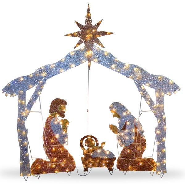 72-inch Nativity Scene with Clear Lights. Opens flyout.
