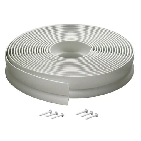 M-D 03822 30' White Vinyl Garage Door Seal For Top & Sides