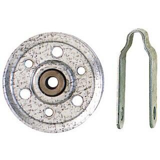 "Stanley Hardware 730710 3"" Garage Door Hot Dipped Galvanized Pulley & Fork"