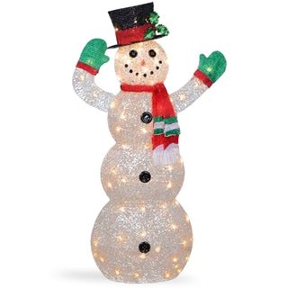 48-inch Snowman Decoration With Clear Lights