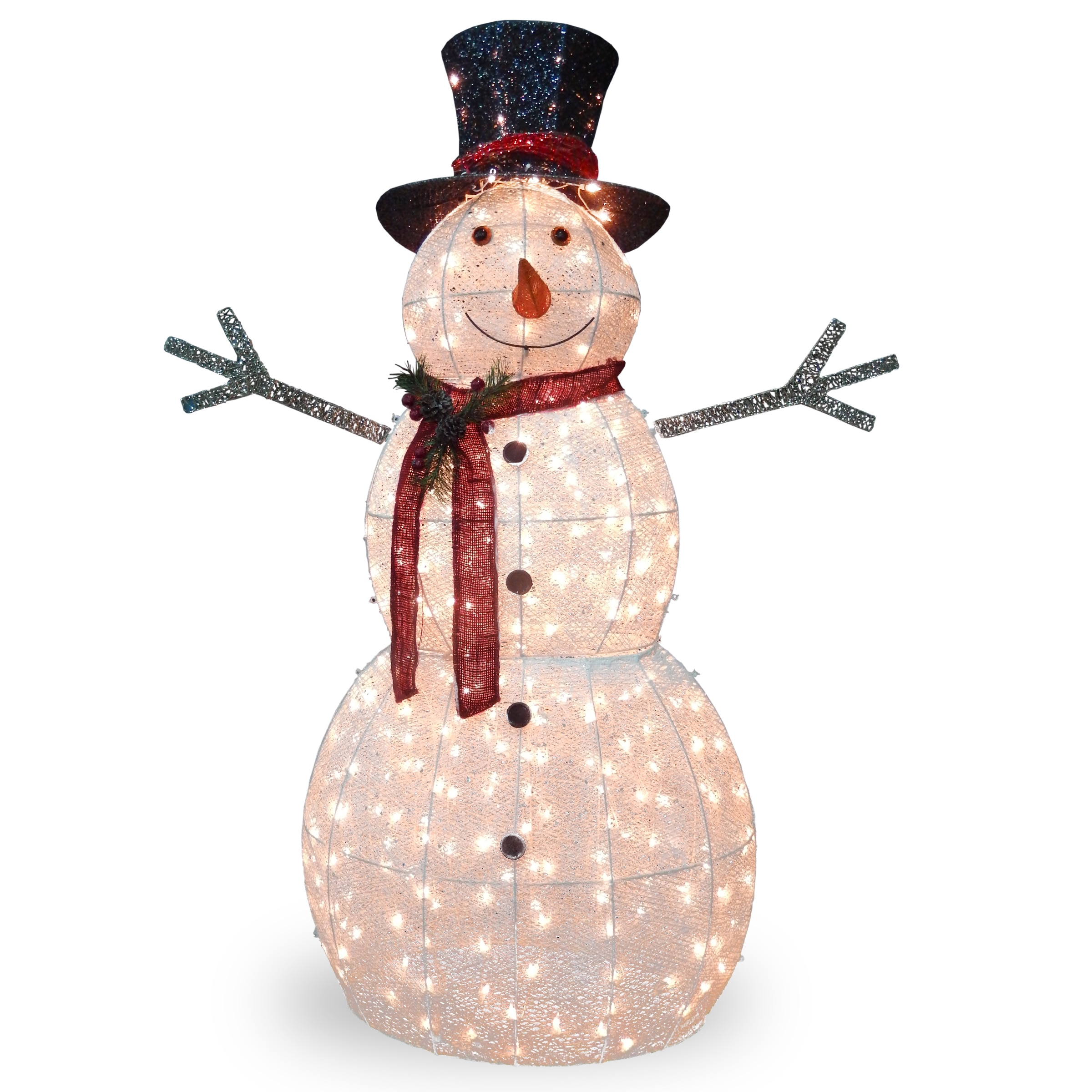 National Tree 60-inch Snowman Decoration With Clear Light...