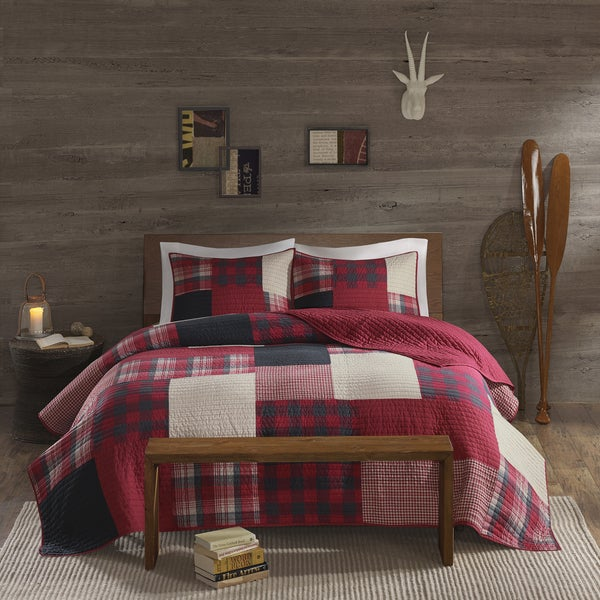 Woolrich Sunset Cotton Printed Pieced Quilt Mini Set   Free Shipping Today    Overstock.com   19405599