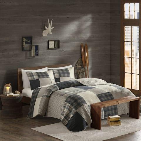 Woolrich Winter Hills Tan Oversized Cotton Quilt Set