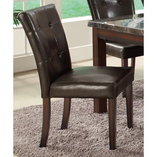 Coaster Company Brown Tufted Side Dining Chairs (Set of 2)