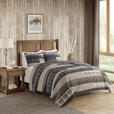 Woolrich Winter Plains Cotton Printed Pieced Quilt Set