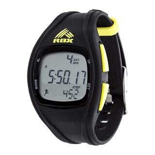 RBX Digital Black Silicone Pedometer Watch
