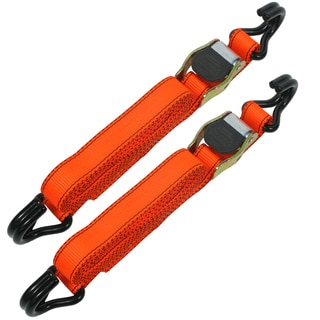Allied International 84031 12' Orange Ratchet Tie Downs 2-ct