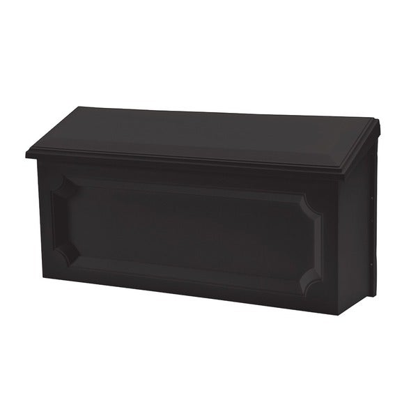 Solar Group WMH00B04 Black Windsor Horizontal Wall Mount Mailbox