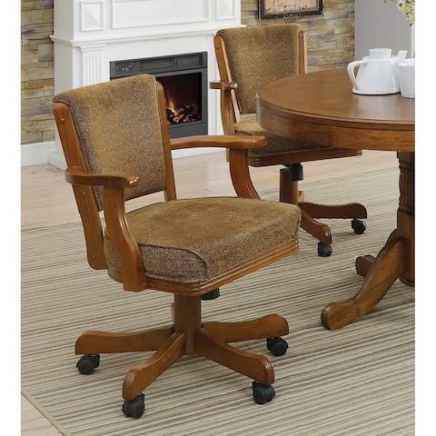 Coaster Company Brown Oak Game Chair