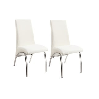 Coaster Company White Modern Dining Chairs (Set of 2)