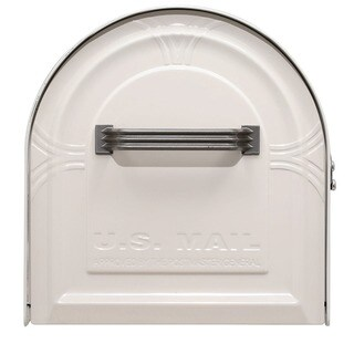 Solar Group WM16KW01 Large White Wyngate Rural Mailbox