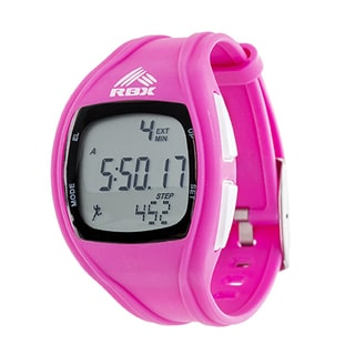 RBX Digital Pink Silicone Pedometer Watch