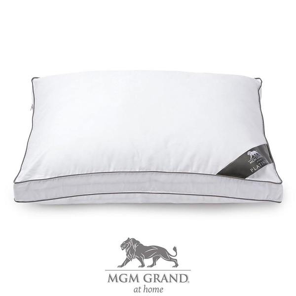 MGM Grand at Home Platinum Hotel Cotton Pillow - White